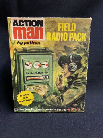 VINTAGE ACTION MAN - FIELD RADIO PACK - Boxed Complete.